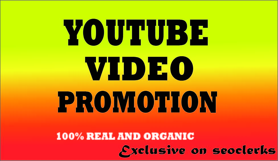 YT video ORGANIC PACKAGE Promotion Non drop and with SAFE USER
