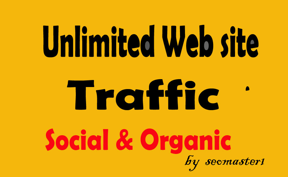 UNLIMITED worldwide organic & social Website TRAFFIC to get GOOD ALEXA rank for 30 days