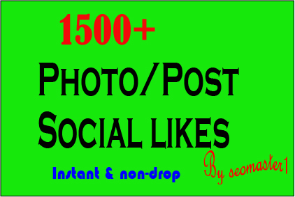 super Instant 1500 Social likes High Quality Express Delivery