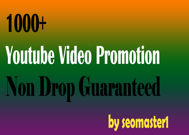Youtube PROMOTION High retention & NON-DROP Guaranteed