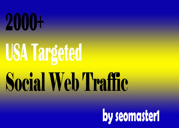 2000 Human USA Targeted traffic to your web or blog site. Get Adsense safe and get Good Alexa rank