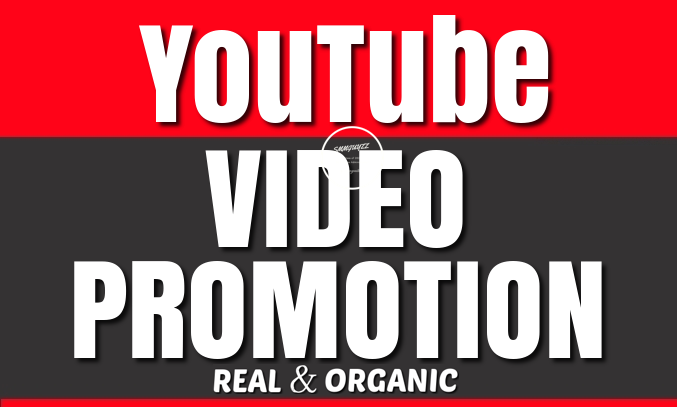 I Will Do YouTube Video Real Promotion and Marketing