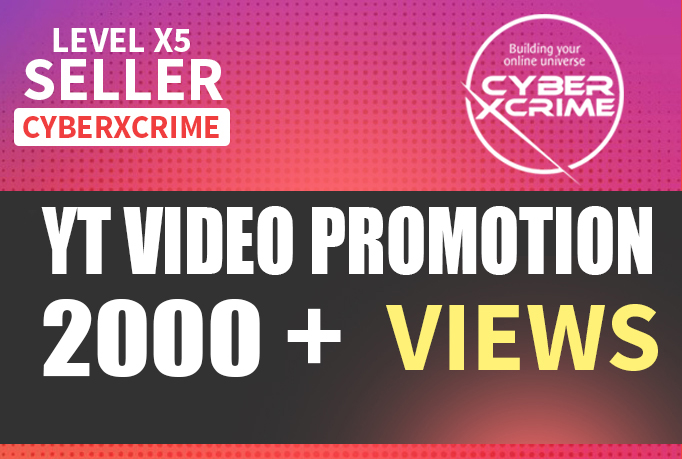High Quality YT Video Promotion