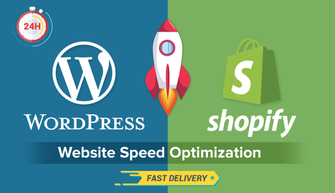 WordPress or Shopify Website Speed Optimizations