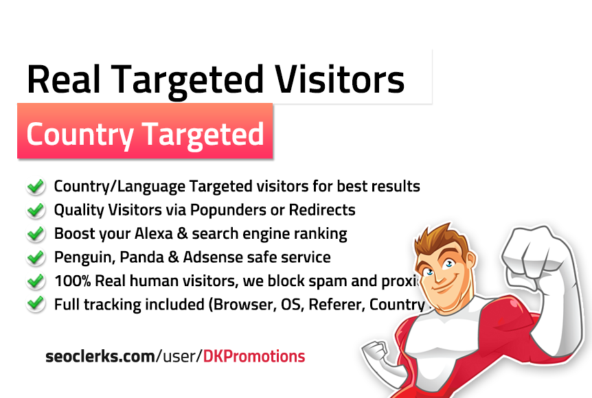 TARGETED 10,000 Real Visitors to your website