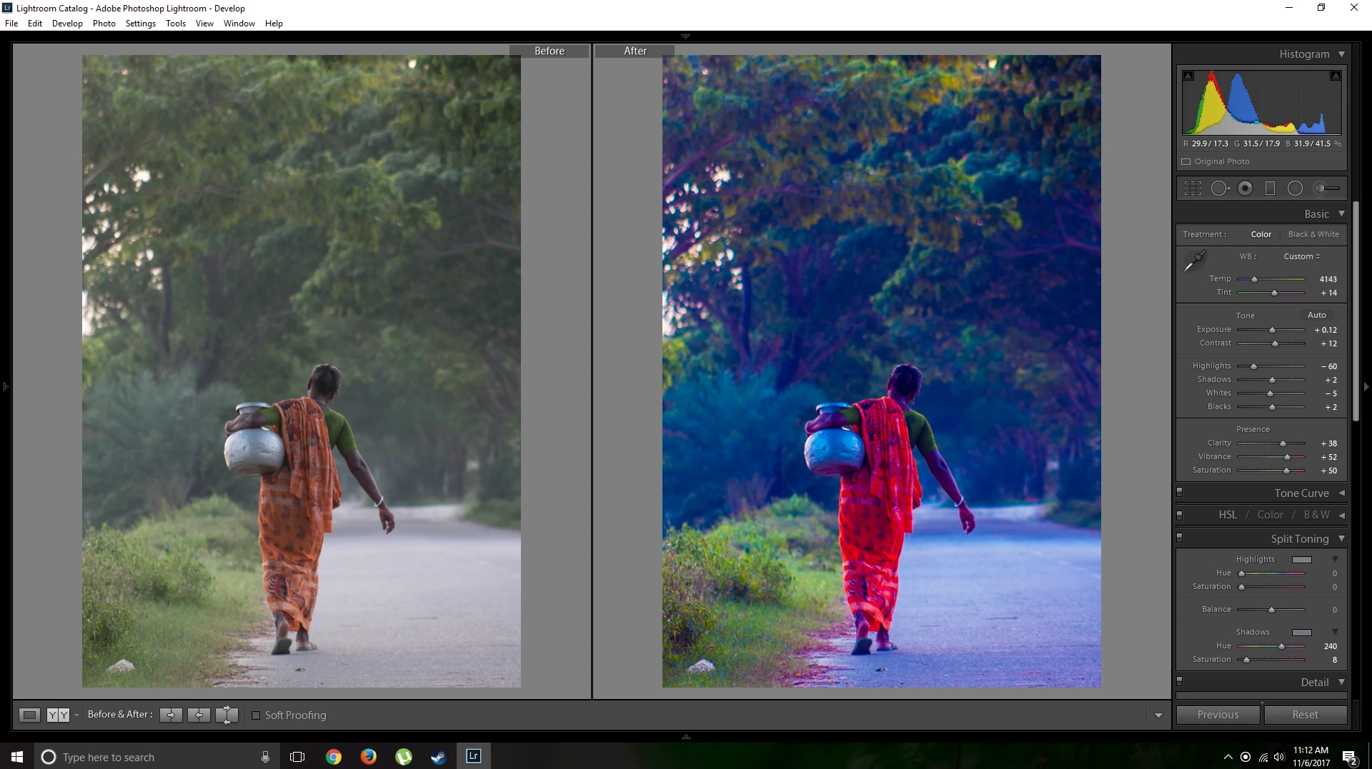 Color correction and edited by Adobe LightRoom