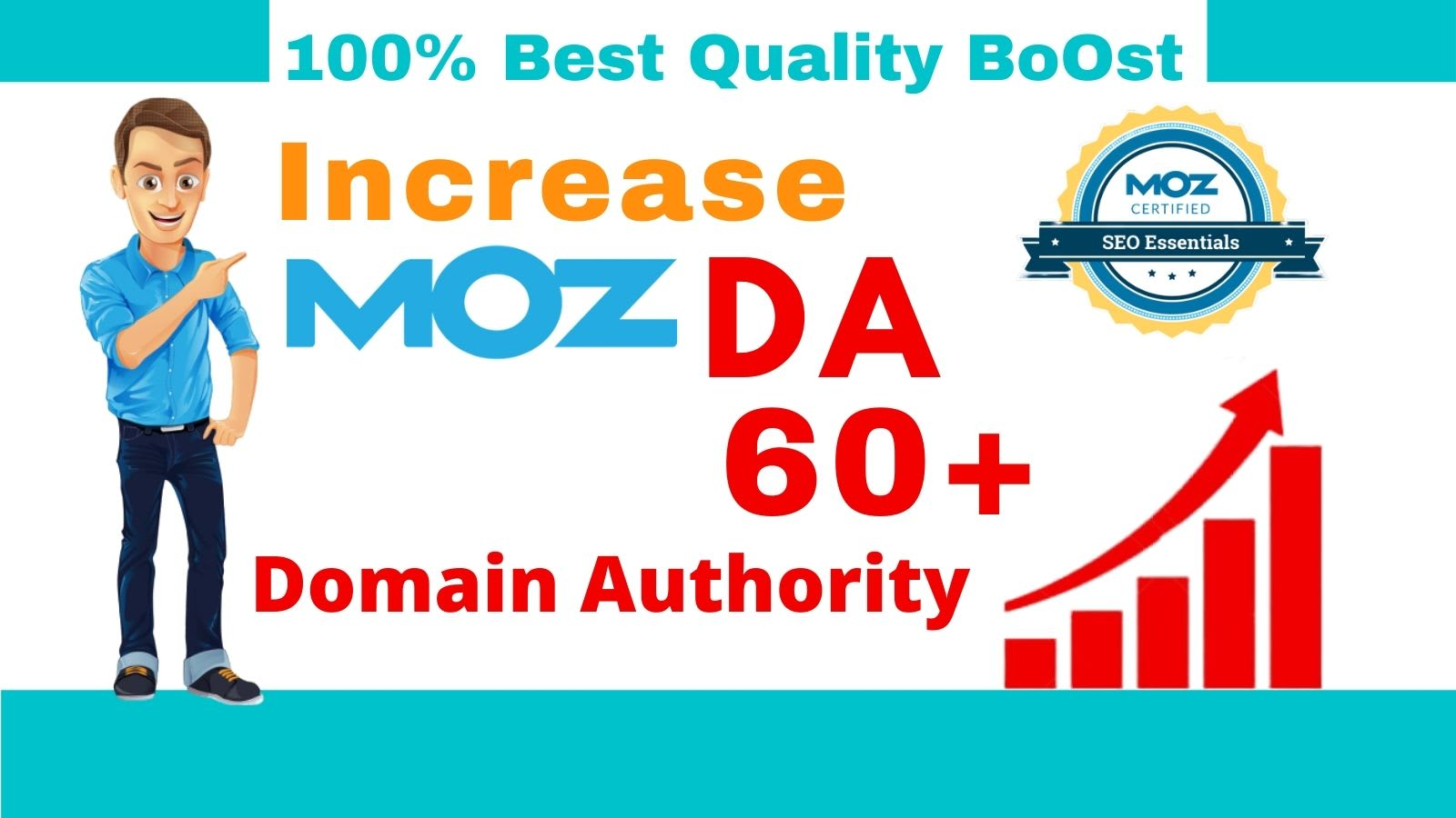 Increase Domain Authority MOZ DA with High Authority Backlinks