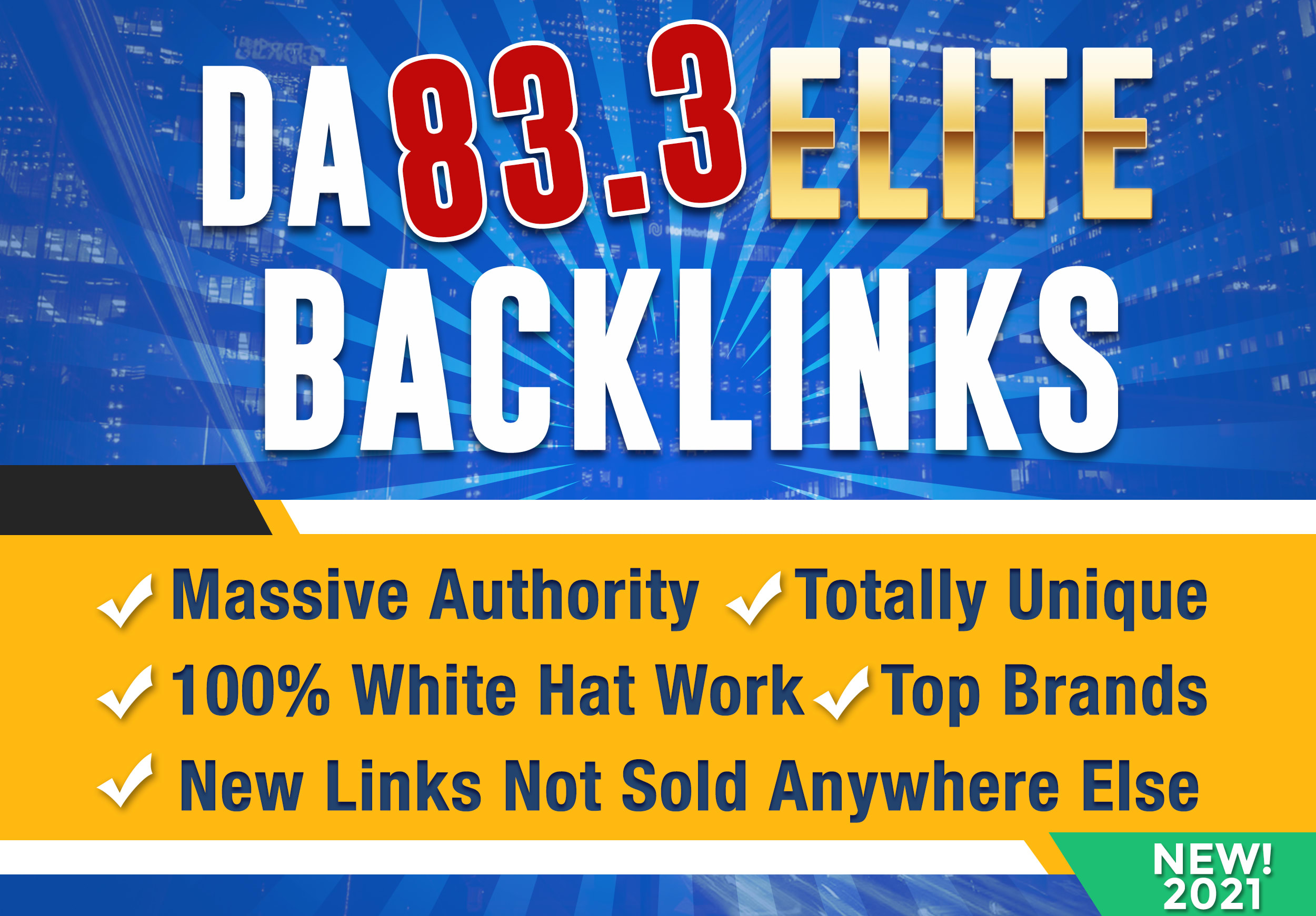 I Will Manually Build White Hat Unique DA 83 SEO Backlinks Authority Link Building