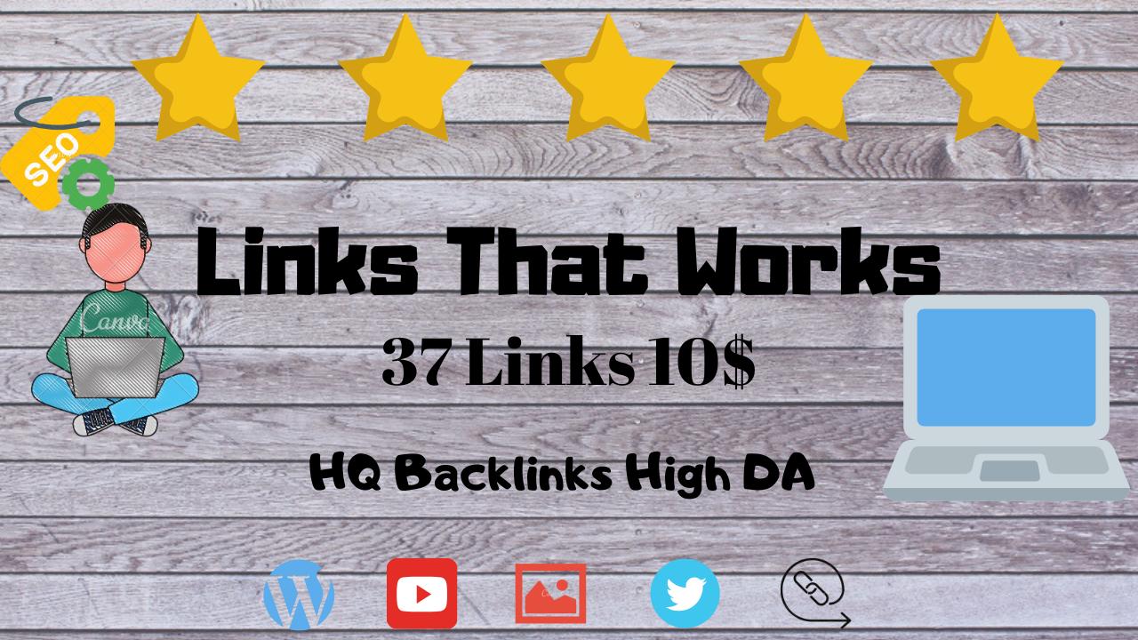 37 HQ Backlinks High DA *5 STAR SERVICE* Guaranteed
