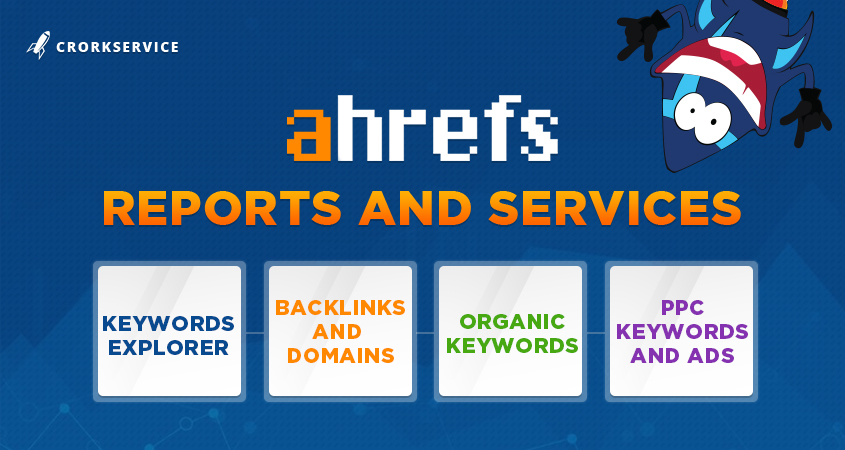 Ahrefs Reports and Services - backlinks, keywords, domains, ppc, ads