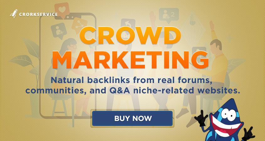 10 Crowd Marketing Links - natural backlinks for your website