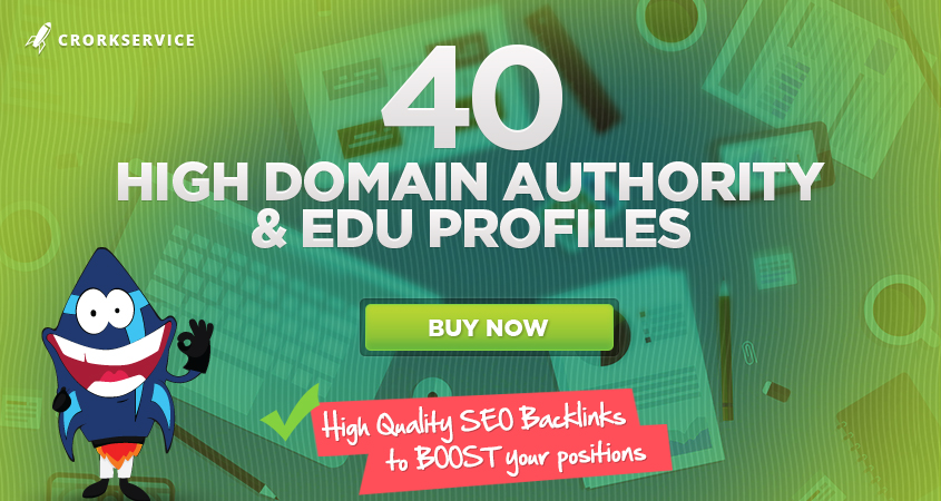 40 SEO Profiles With High Domain Authority Sites,  High Quality Link Building