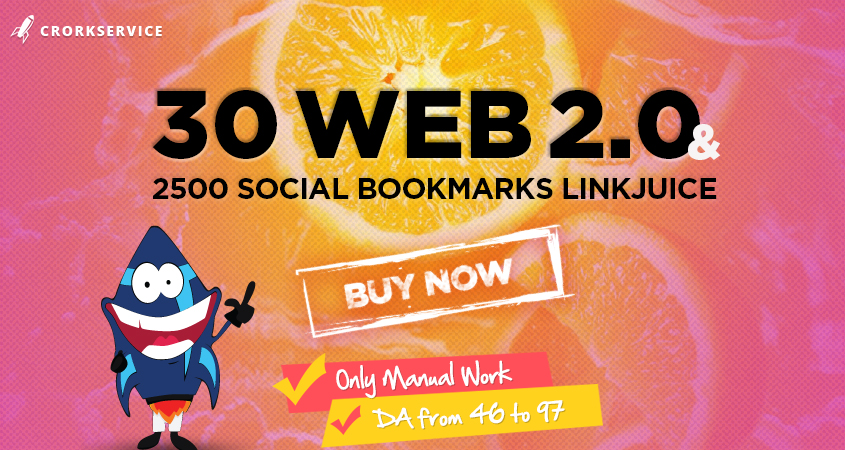 30 Web 2.0 Properties and 2500 Social Bookmarks LInkJuice