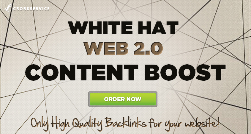 WEB 2.0 Content Boost White Hat Manual Work