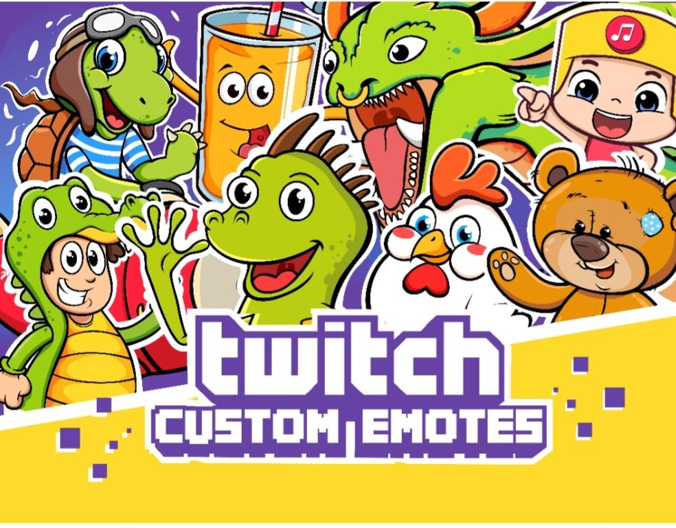 Design Unique High Quality Custom Twitch Emotes