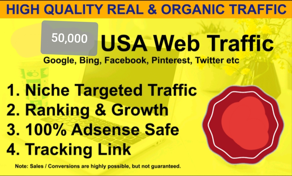 Send 50,000 Niche Related Targeted REAL Traffic To Your Ebay,  Amazon,  Shopify Stores Adsense safe