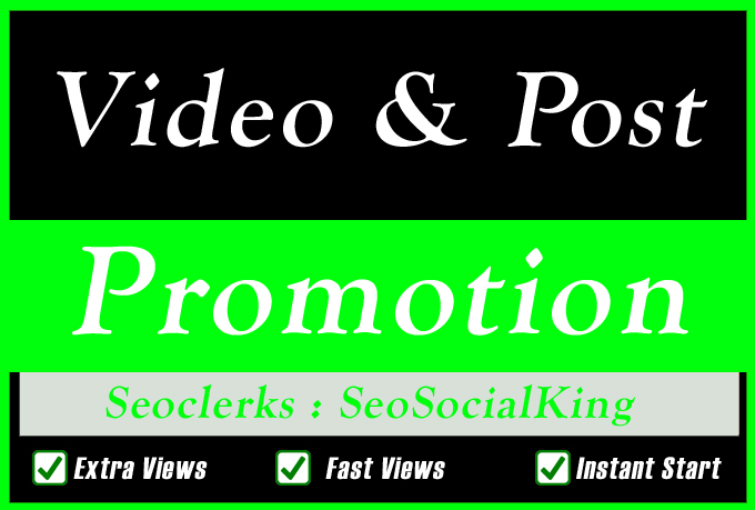High Quality Video Views Promotion with Likes and Custom Comments for Social media Marketing