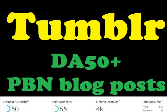 DA50+ Tumblr PBN High-Quality blog Posts