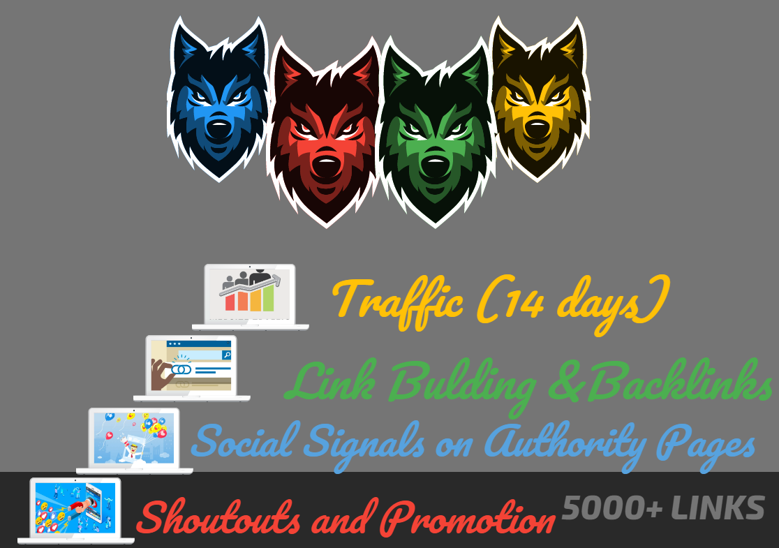 Powerful 4 Levels SEO - 5000 Social Signals - Traffic - PBN Backlinks, Shoutouts, Wordwide Promotion