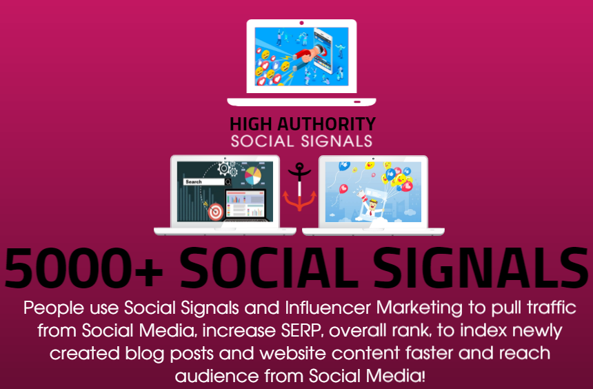 GET 5000 SOCIAL SIGNALS ON HIGH AUTHORITY PAGES TO BOOST YOUR RANK, TRAFFIC AND SEO SCORE