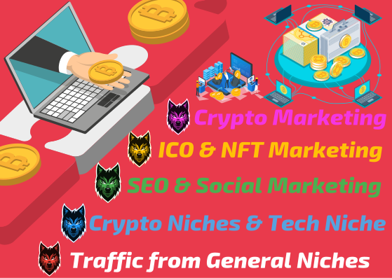 All In One SEO & MARKETING for Crypto,  NFTs,  tokens,  crypto blogs,  communities - TRAFFIC and SOCIAL