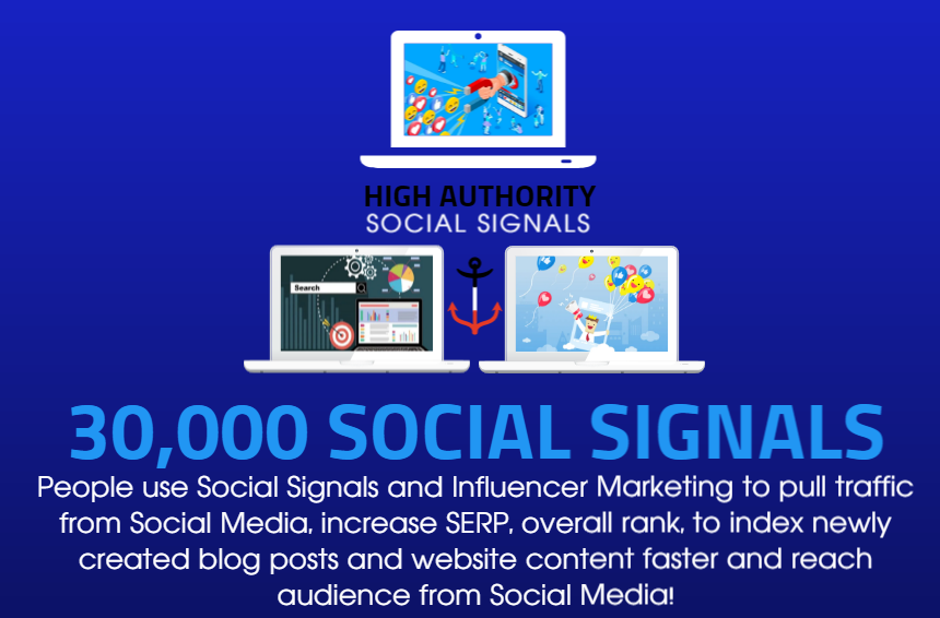 GET 30,000 SOCIAL SIGNALS ON HIGH AUTHORITY PAGES TO BOOST YOUR RANK,  TRAFFIC AND SEO SCORE