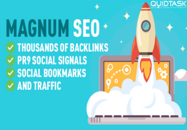 Magnum SEO - 1000 Backlinks - 1500 Signals - Video Creation - UNLIMITED Traffic - SHOUTOUTS