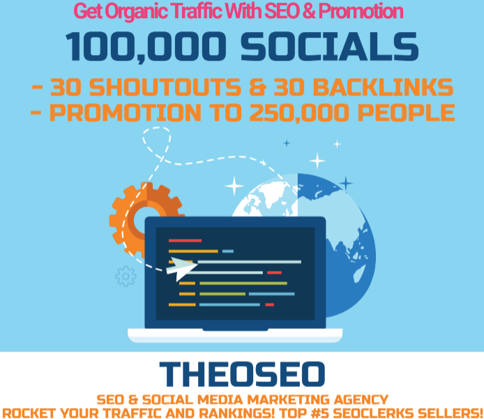 Organic Traffic for 1 month with 30 POWERFUL SHOUTOUTS,  30 BACKLINKS and 100,000 SOCIAL SIGNALS