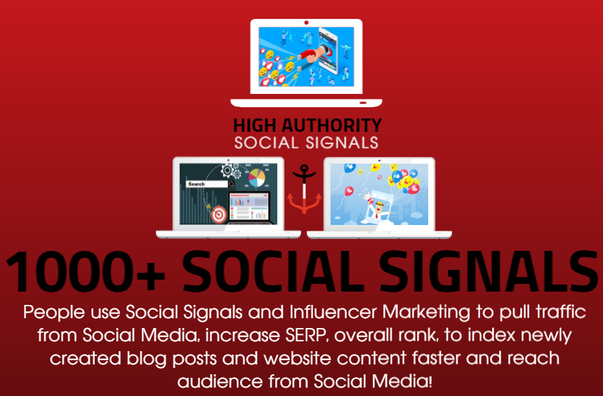 GET 1000 SOCIAL SIGNALS ON HIGH AUTHORITY PAGES TO BOOST YOUR RANK, TRAFFIC AND SEO SCORE