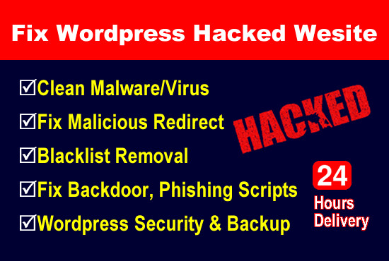 I will Remove WordPress malware removal,  hacked WordPress website security