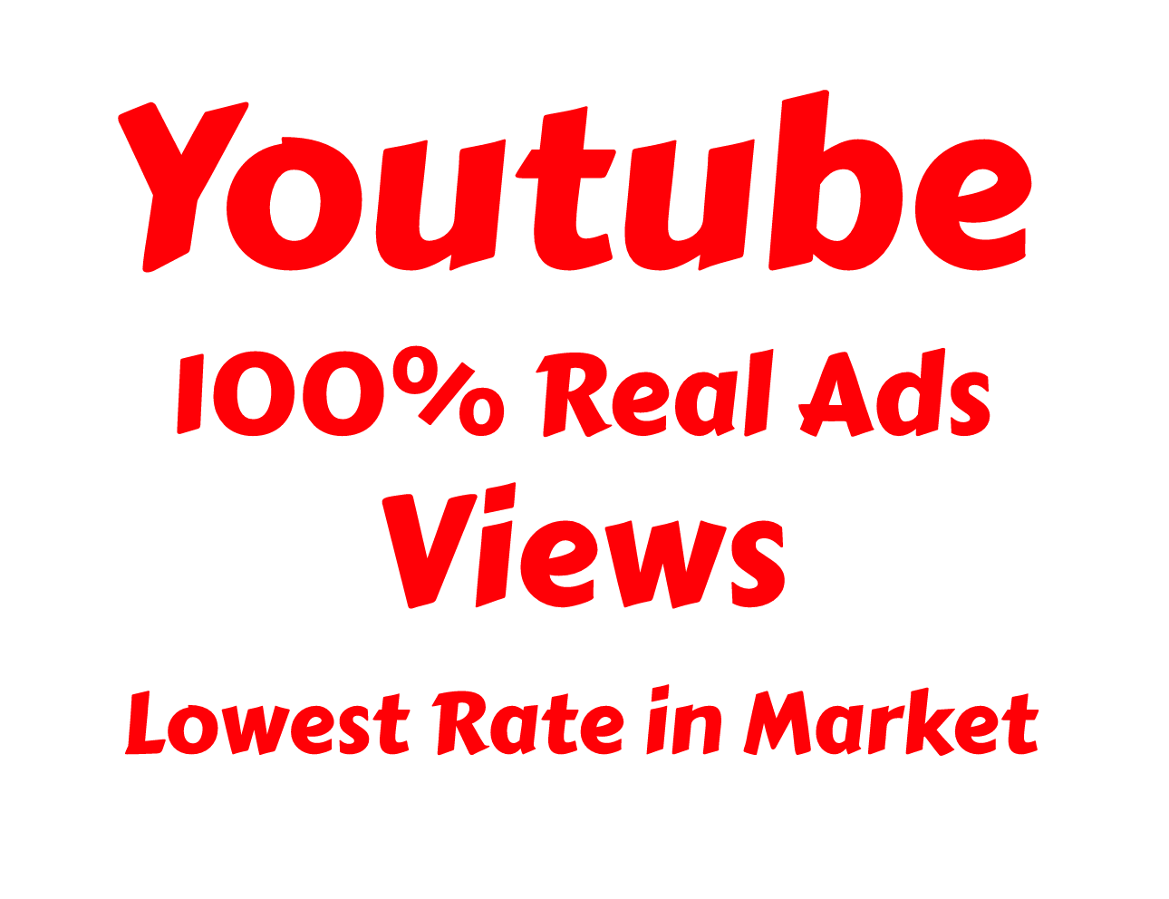 REAL YOUTUBE AdWords PROMOTION 100k