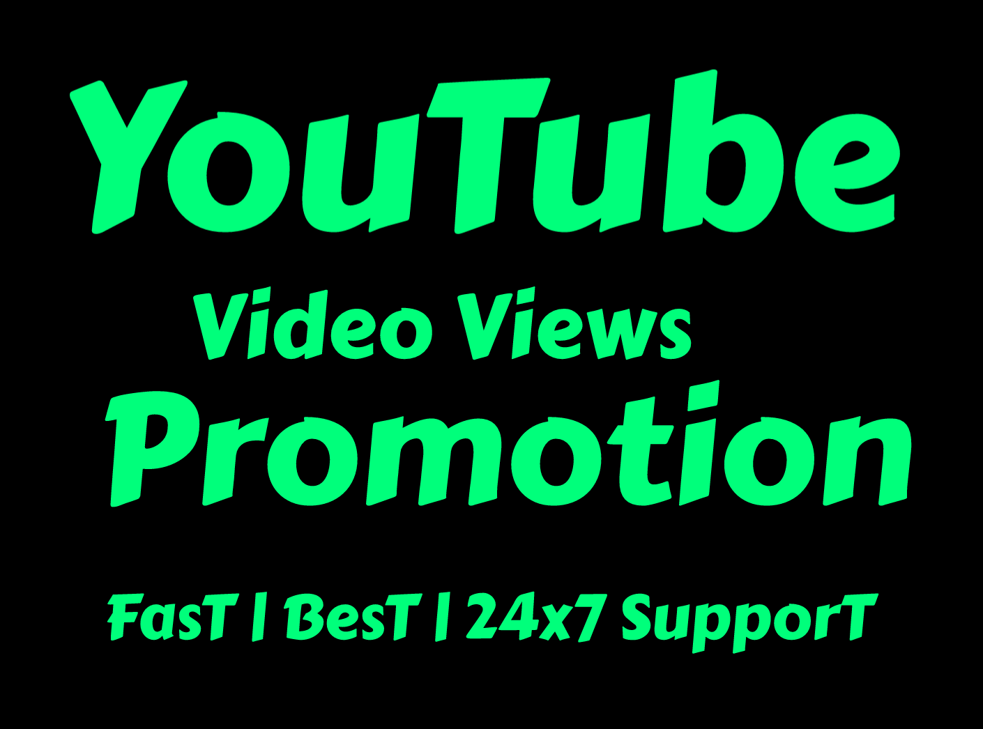 Natural Youtube Promotion for you