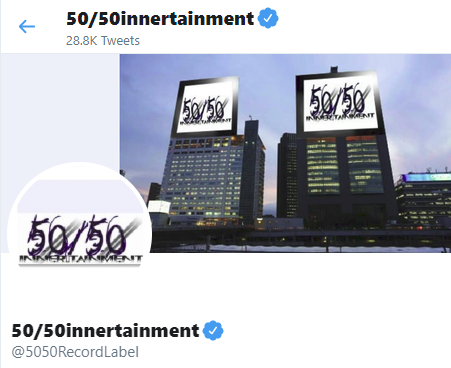 50/50innertainment Sponsored Tweet