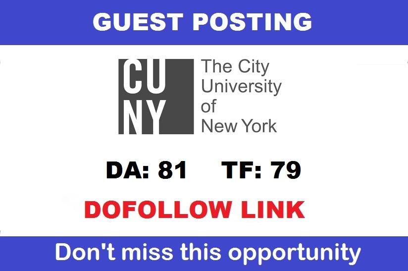 I will publish a guest post on a da 80 premium USA university edu site