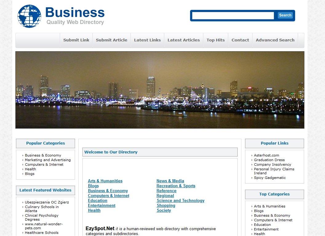 Add you website to EzySpot. Net directory