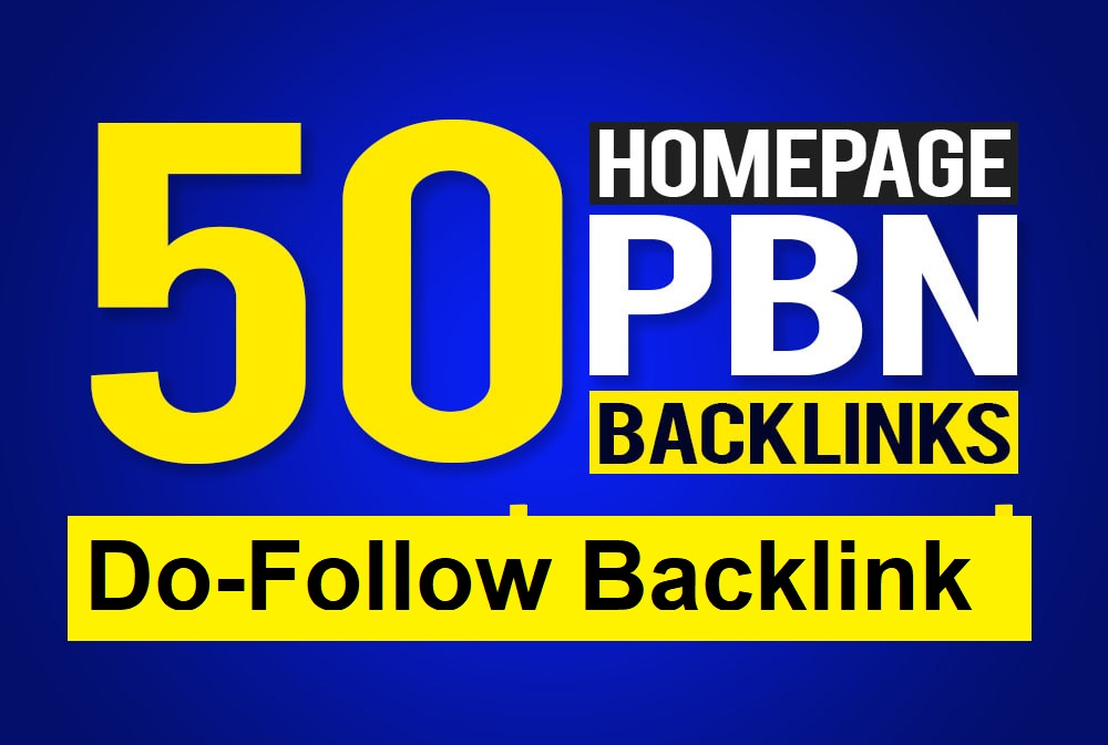Manually Build 50 UNIQUE HOMEPAGE PBN backIinks DA20+