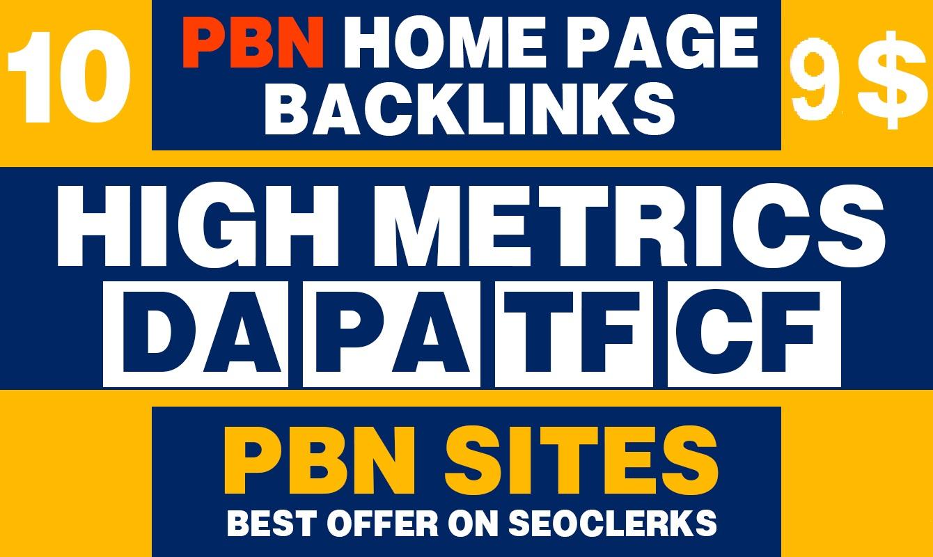 10 PBN High DA PA 30+ Home Page Dofollow Backlinks seo