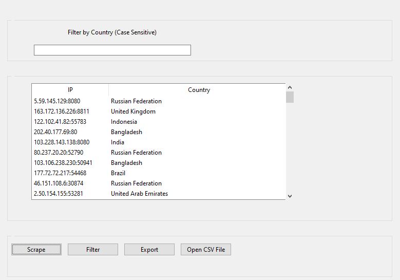 Scrape Proxies by Country - Proxy Scraper SEO Tool