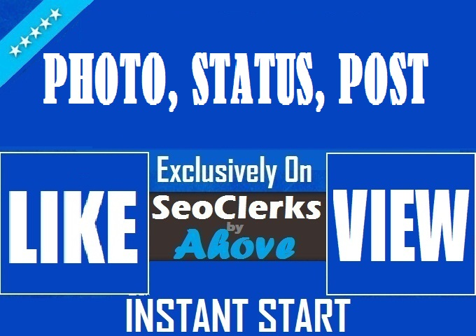 Get Instant 100 Status Likes OR Reactions OR 1000 Video Views
