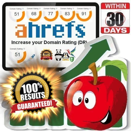 Domain Rating Boost to DR50+ - DR60+ - DR70+ or DR80+