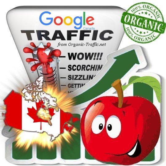 Canadian Search Traffic via Google. ca by Keyword