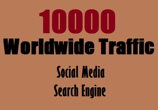 Real 10,000++ Web Traffic WORLDWIDE from Search Engine and Social Media