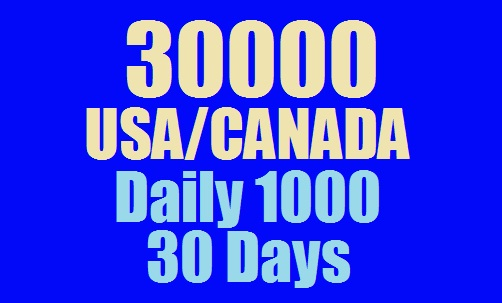 1000 Daily Real Web Traffic USA and CANADA