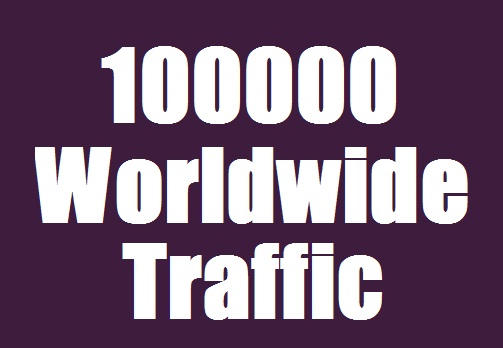 100000 Traffic Worldwide from Search engine & Social Media