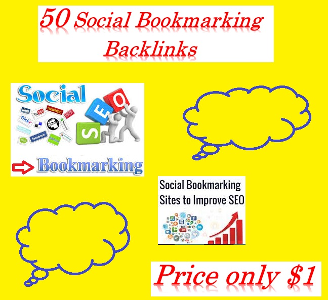 Create 50+ Social Bookmarking Backlinks helps to increase your website ranking