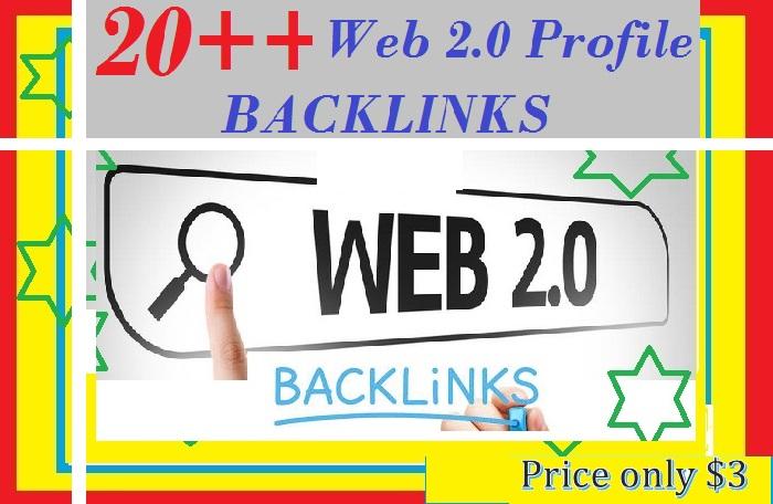 Provide 20 + Good PR Web 2.0 Profile Backlinks for your websites ranking