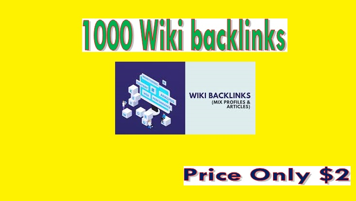 Manage 1000 Wiki backlinks mix profiles & articles