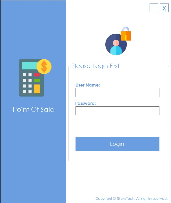 Point of sale and inventory management windows application