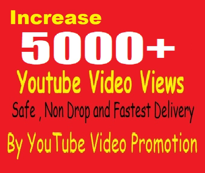 For Non Drop 5000 Youtube Video Promotion and Marketing