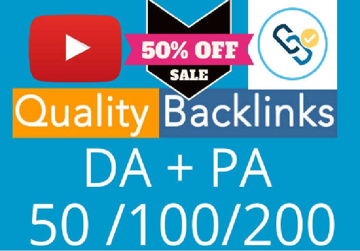 I will do manually 50 quality backlink for website and youtube video